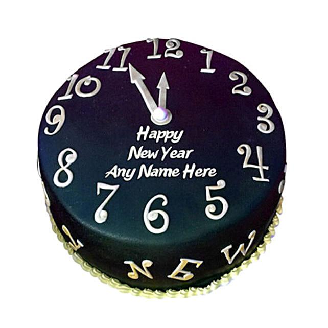 Happy New Year Countdown Fondant Cake 1kg Eggless