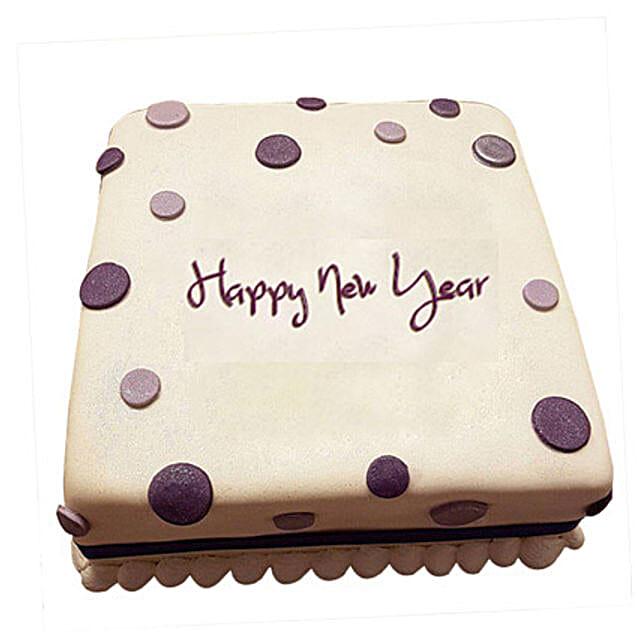 Happy New Year Fondant Cake 1kg