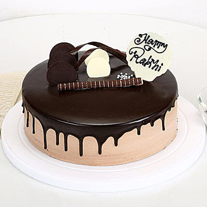 Happy Rakhi Chocolate Cake 2kg eggless