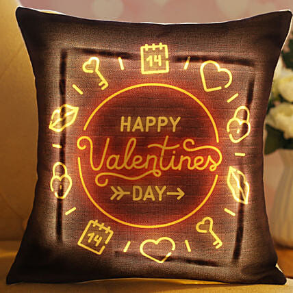 Happy Valentine Day LED Cushion Hand Delivery