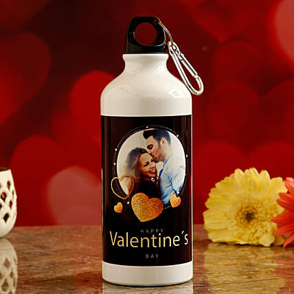 online personalised water bottle for vday