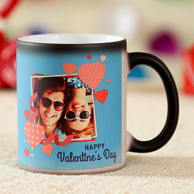 Happy Valentines Day Personalised Magic Mug:Valentines Day Mugs