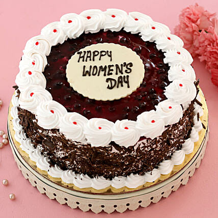 Happy Women s Day Blueberry Cake