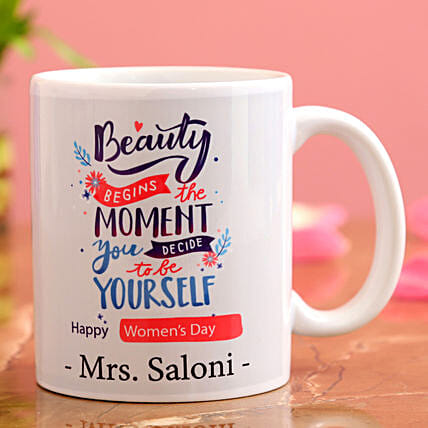 Happy Women s Day Personalised White Mug Hand Delivery