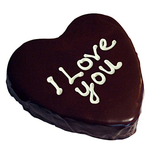 Heart Chocolate Cake 2kg Eggless