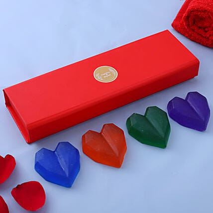 Heart Shape Handmade Soaps:Send Cosmetics & Spa Hampers
