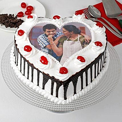 Heart Shaped Personalised Photo Cake