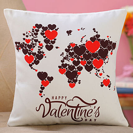 valentine day printed cushion for girlfriend:Valentines Day Cushions