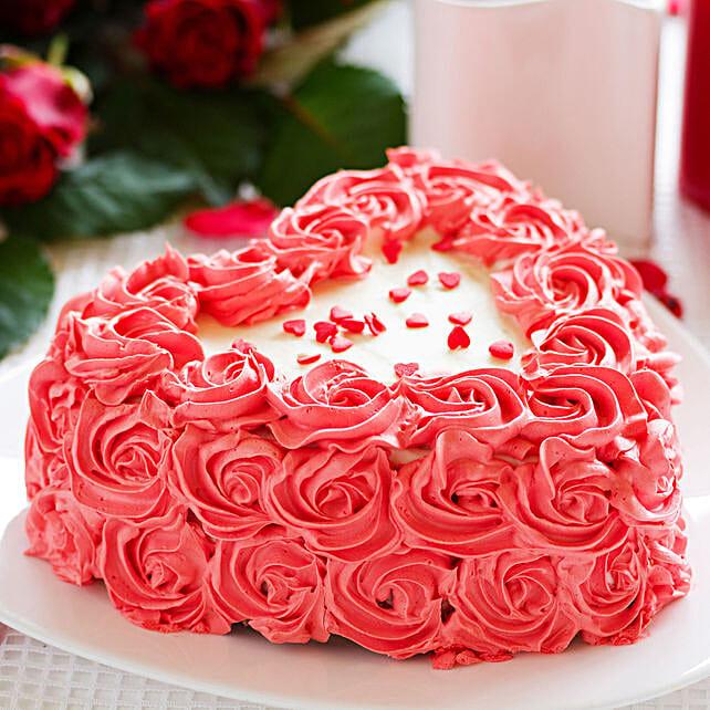 heart shape cake for anniversary:Send Valentines Day Designer Cakes