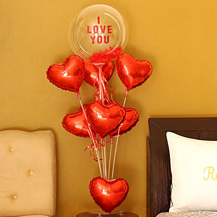 Hearty Love Balloon Bouquet:Balloon Bouquets