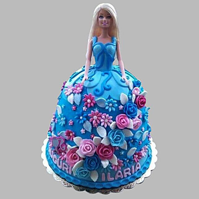 Frozen Barbie Cake 2kg:Cinderella Cakes
