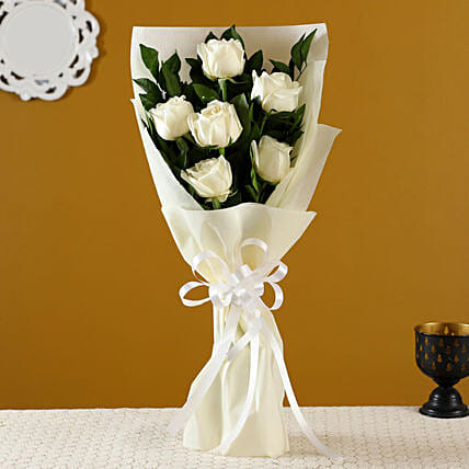 Order White Roses Bunch:White Day Gifts
