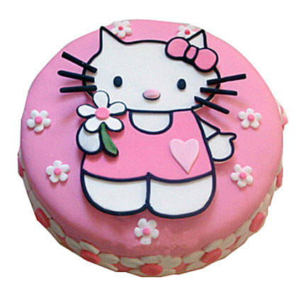 Hello Kitty Birthday Cake 3kg Vanilla Eggless Gift Hello Kitty Birthday