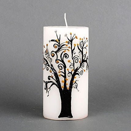 Printed design candle