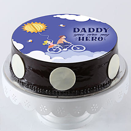 Chocolate Photo Cake For Father