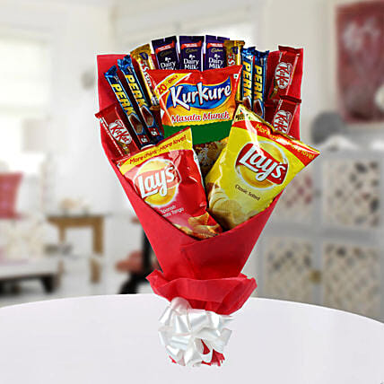 Chocolate Bouquet with Chips:Send Chocolate Bouquet