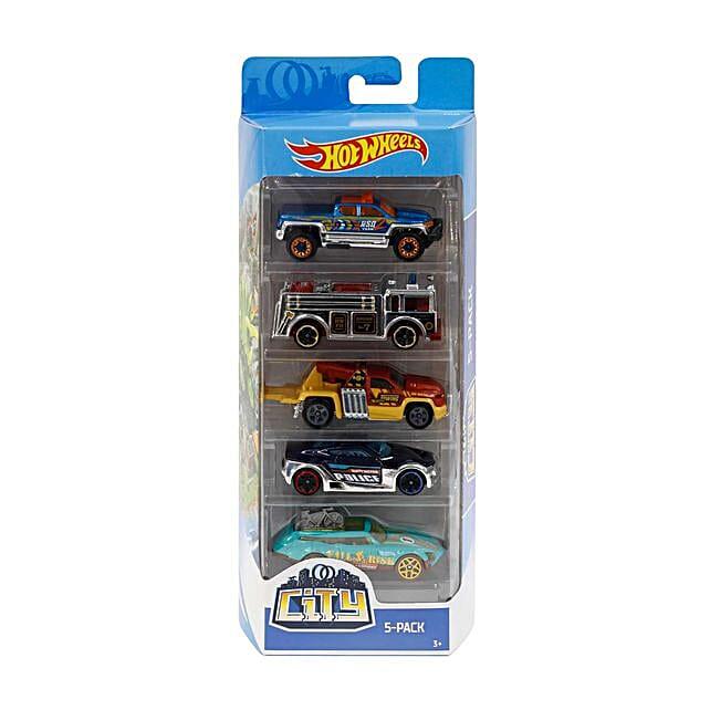 Pack of 5 Hot Wheels Car