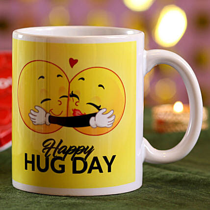 printed hug day mug online:Hug Day Gifts