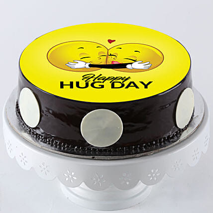 happy hug day cake for her online:Send Gifts for Hug Day