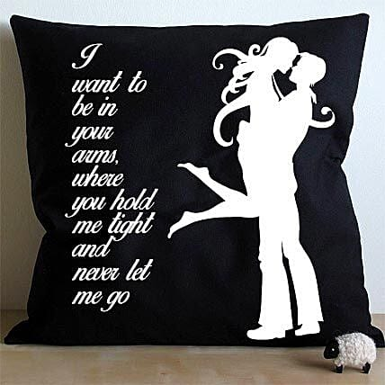 Hug Me Cushion-hugging black and white cushion