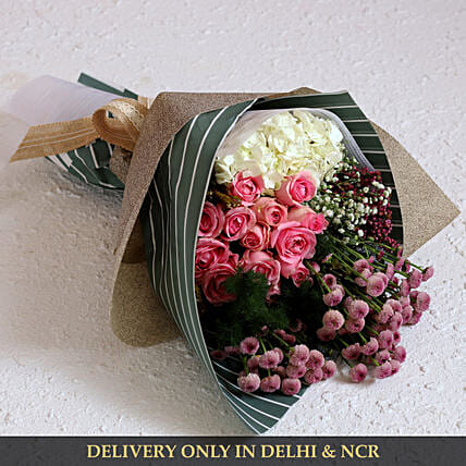 Get Well Soon Flower Bouquet Online:Designer Flower Bouquet