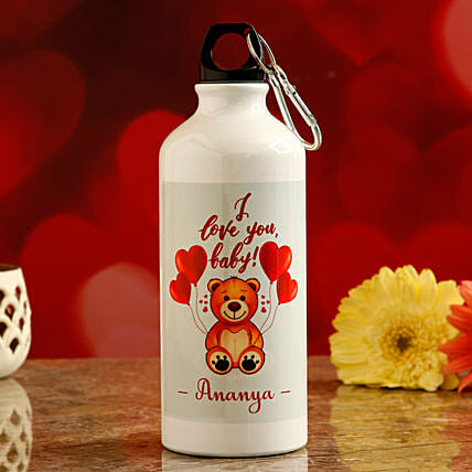 online personalised water bottle for vday:Personalised Message Bottles