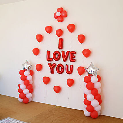Online balloon decor for him