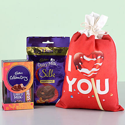 Chocolate with Printed Bag for Her