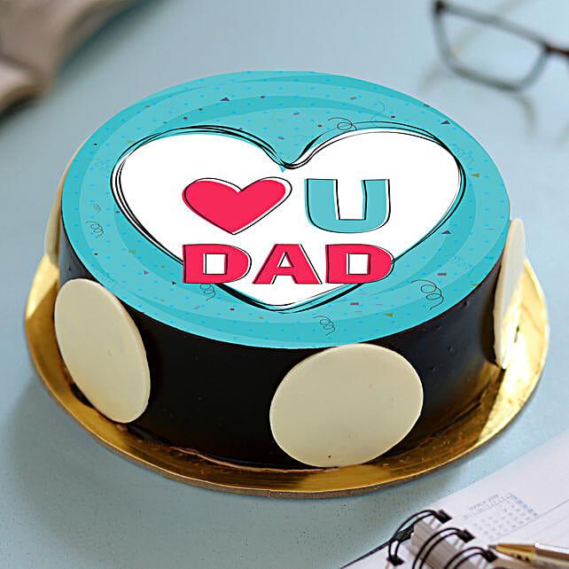I Love You Dad Photo Cake
