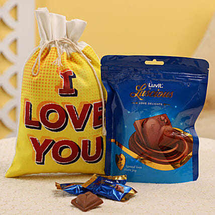 Chocolates in Gunny Bag Online:Send Luvit Chocolates