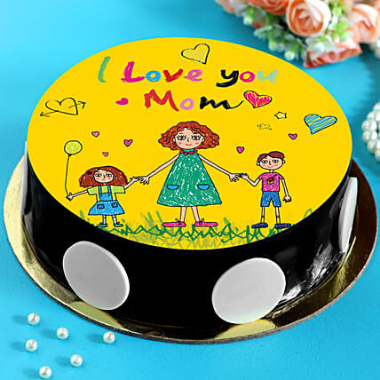 I Love You Mom Chocolate Cake:Mothers Day Cake