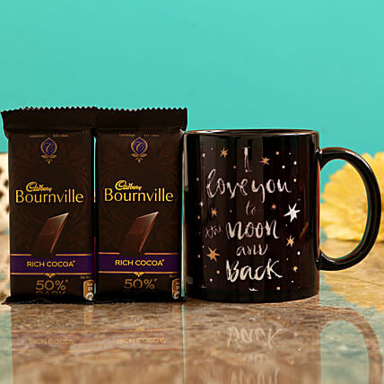 I Love You Mug and Cadbury Bournville Chocolates