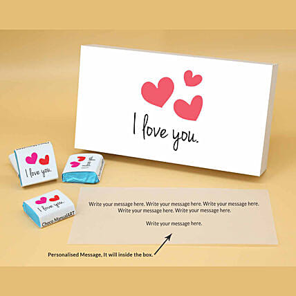 Online I Love You Personalised Assorted Chocolates:Valentine Personalised Chocolates