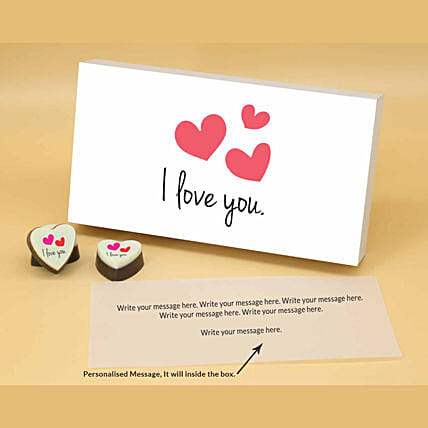 I Love You Personalised Chocolate Box online