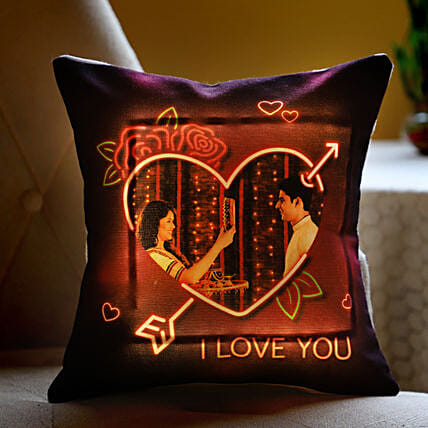LED Photo Cushion for Couple