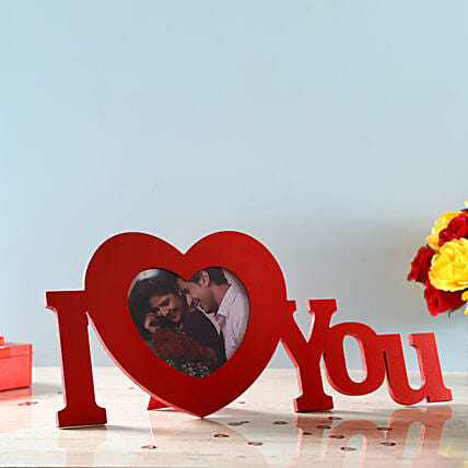 wishing valentine with personalised photo frame:Anniversary Photo Frames