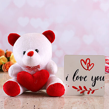 online teddy with table top for valentine