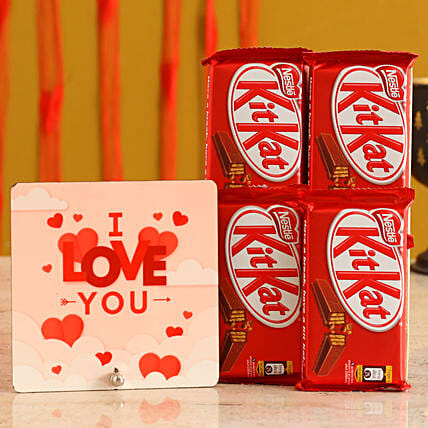 Love you Table Top & Chocolates for GF