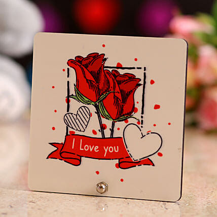 Online Love You Table Top:Gifts for Rose Day