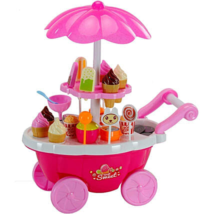 Kids Play Ice Cream Cart