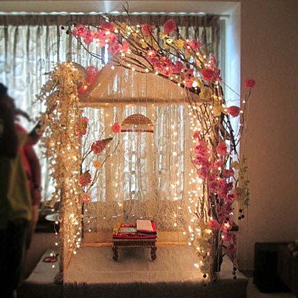 Illuminating Ganpati Decoration:Flower Decoration Near Me