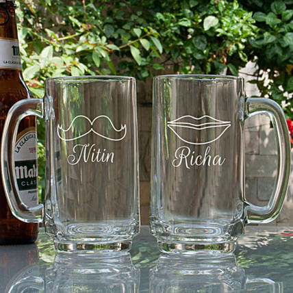 Couple Customised Beer Mug Online
