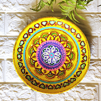 Intricate Yellow Wall Plate