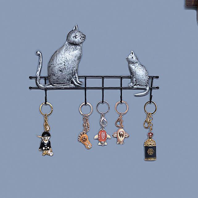 Iron Cat Style Wall Hanging Key Holder