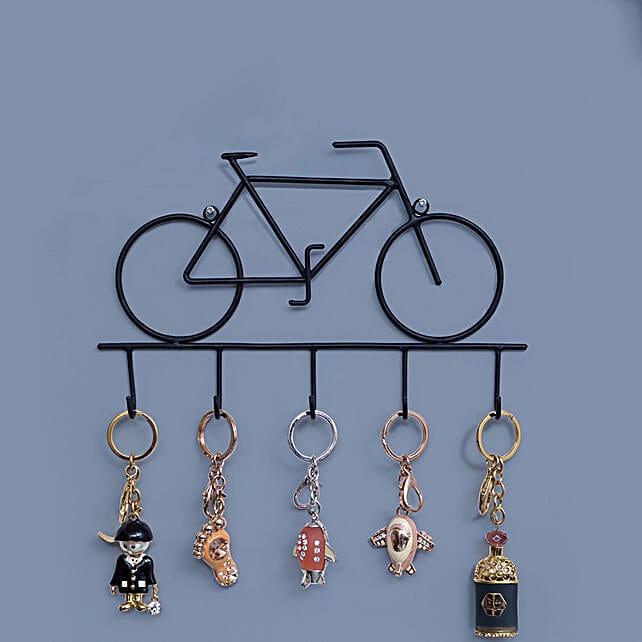 Iron Cycle Style Wall Hanging Key Holder