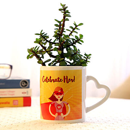 small plant for womens day