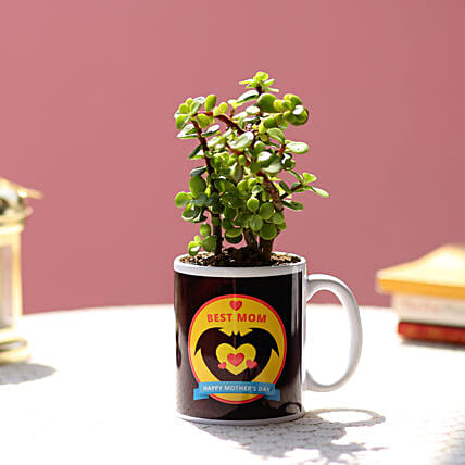 printed mug with plant for mothers day