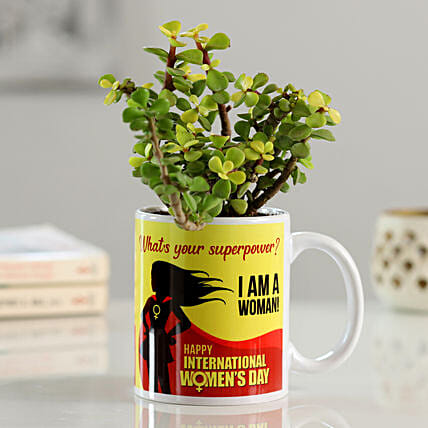 Jade Plant In Women's Day Printed Mug