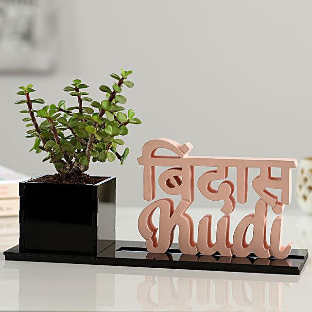 Jade Plant With Bindas Kudi Table Top