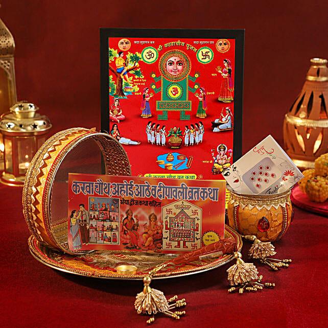 Karwa Chauth Special Mustard Thali Set